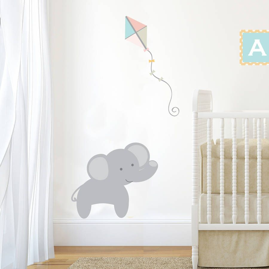 Pastel Jungle Train Elephant Wall Sticker Part 98