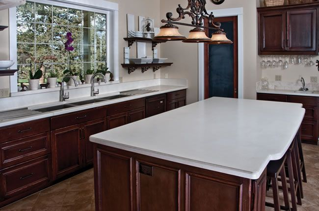 White Concrete Countertops Images Cement Elegance Oregon Bend