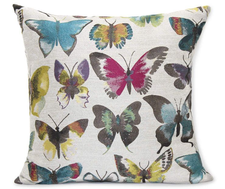 Painted Butterfly Throw Pillow, (20 x