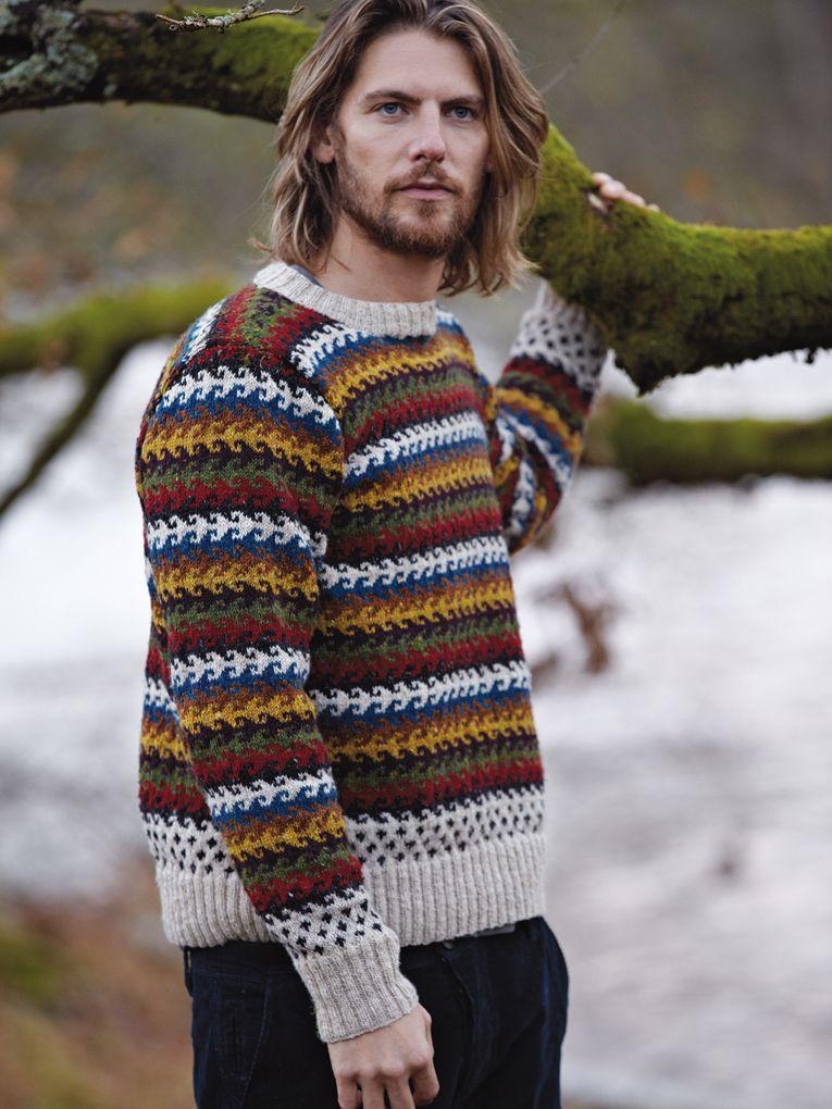 Great Stripe Pattern - Rowan Knitting & Crochet Magazine 54 - Bodrum Mens