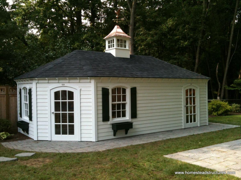 12 X 20 Custom Hip Roof Shed Vinyl Siding Shed Amish Sheds Amish Furniture