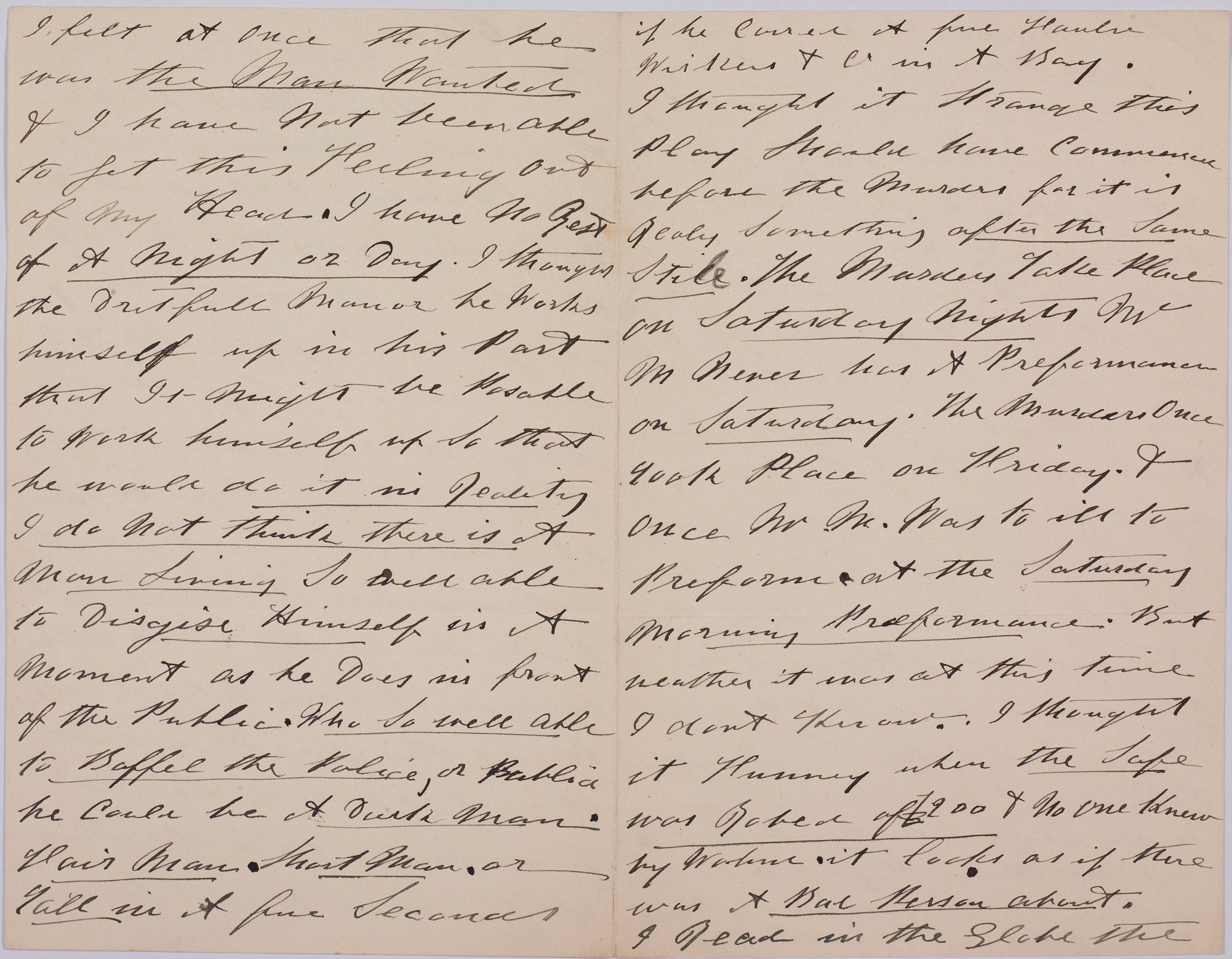 On 5 October 1888 this letter was sent anonymously to the
