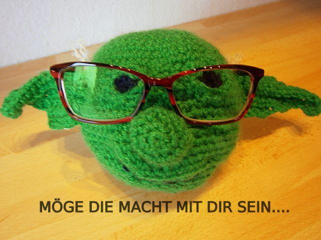 Ulrikes Smaating Meister Yoda Als Brillenhalter Häkeln Stricken
