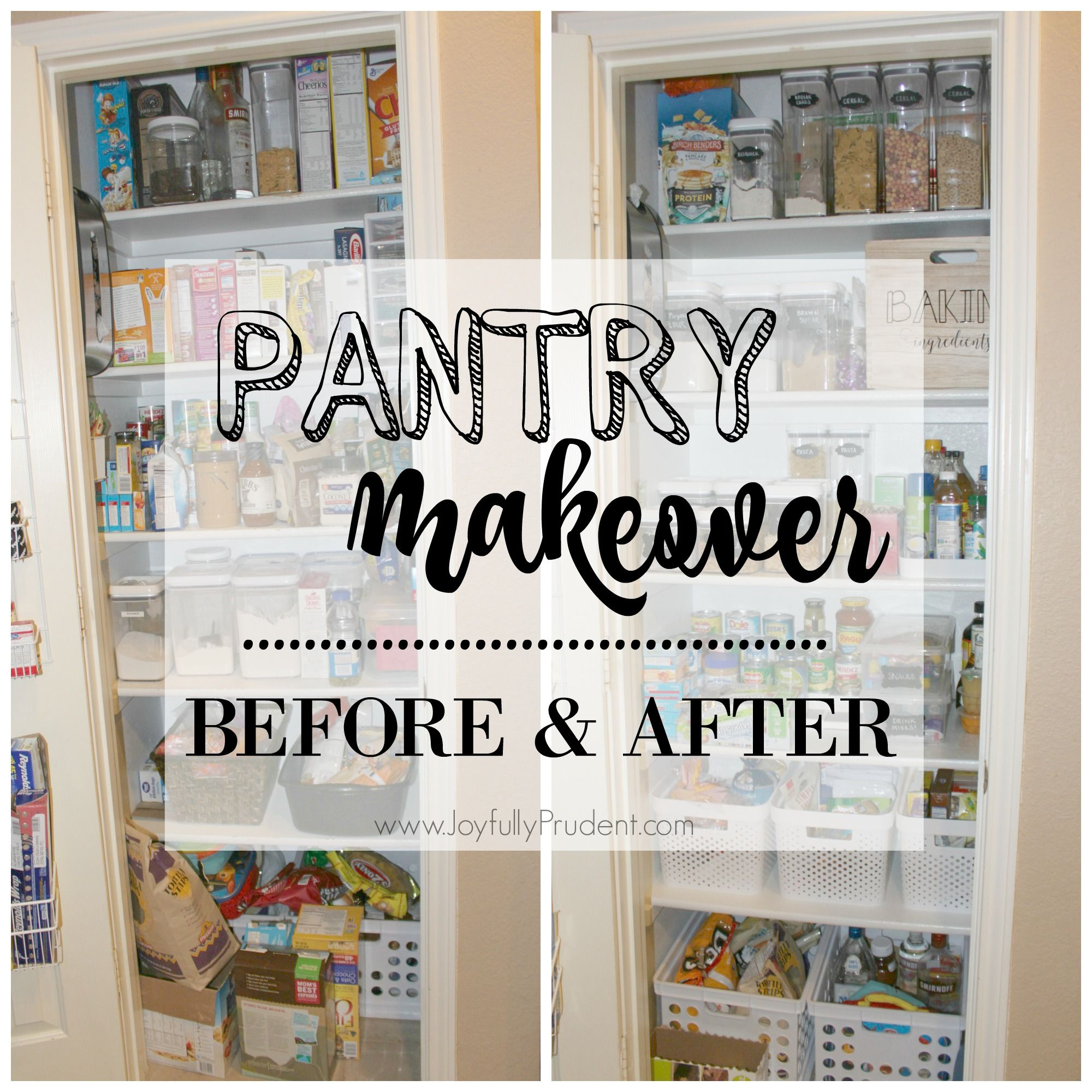 organized pantry before and after pantry organization small pantry organization pantry makeover on kitchen organization before and after id=53825