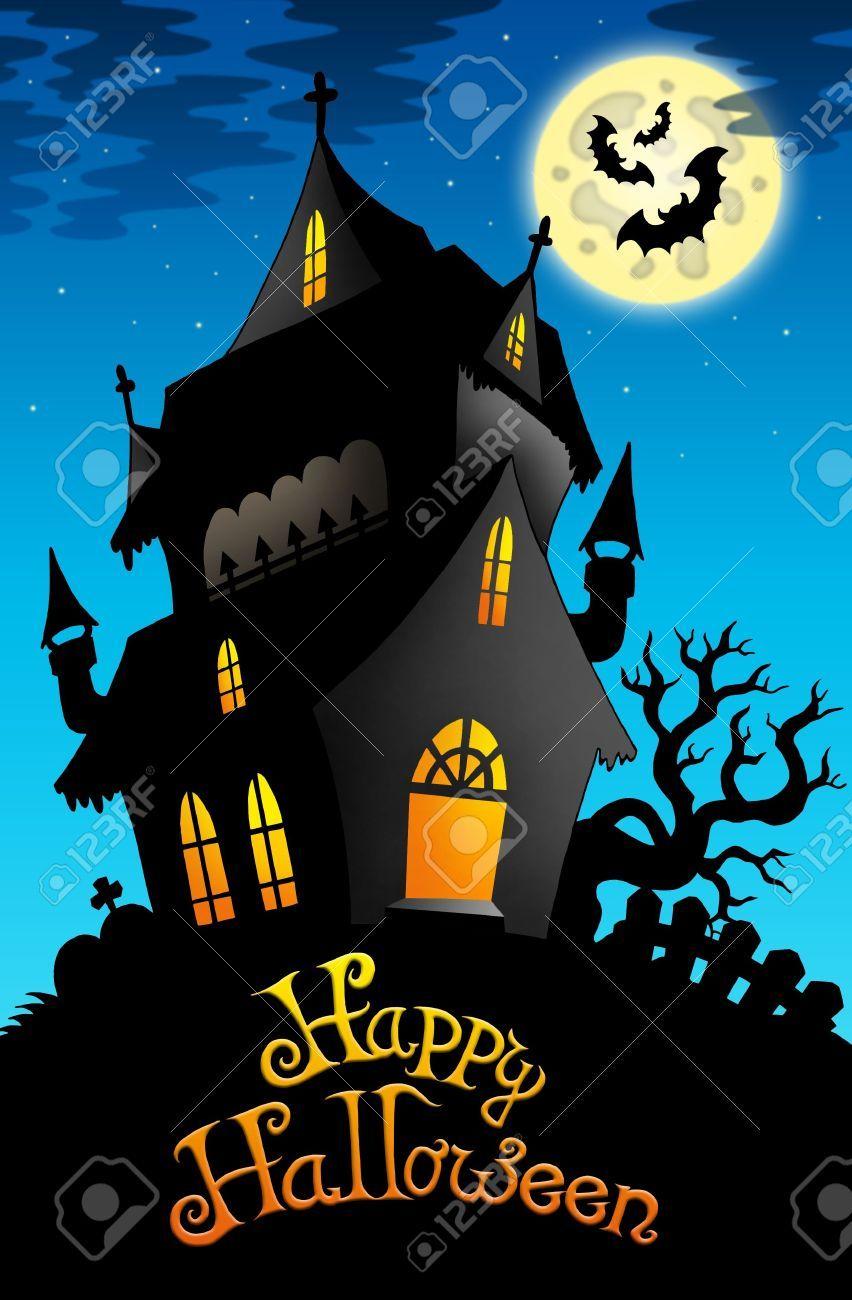Stock Illustration Halloween house, Halloween signs