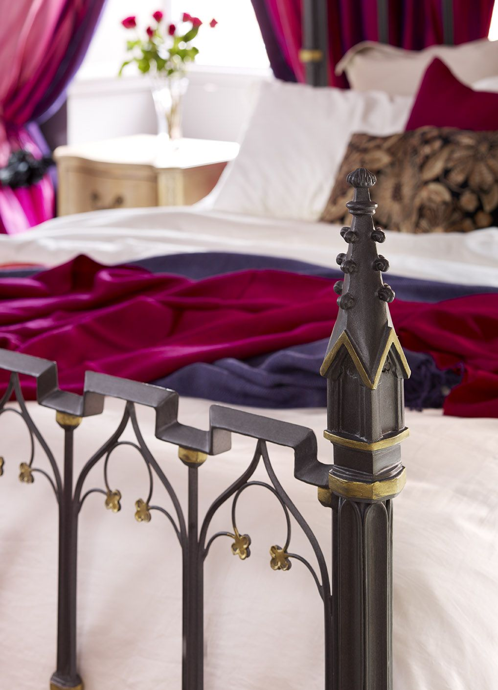 The Pugin Bed from And So To Bed. metal artistry
