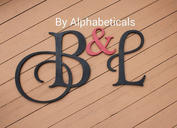 His and Hers Sign Wall Letters Initial Monogram Initials Wall ...