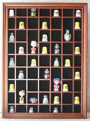 59-Opening Souvenir Thimble Small Miniature Display Case Cabinet ...