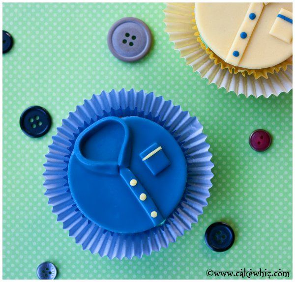 father's day shirt cupcakes 3