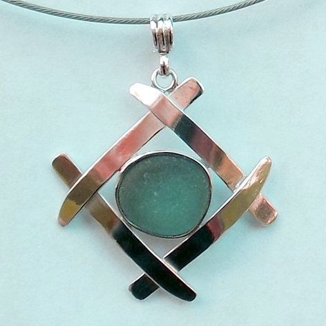 Tiffany 60% OFF! Rare Sea Glass Jewelry Necklace Pendant Teal Blue Sterling Silver #Jewelry #Tiffany #style #Accessories #shopping #styles #outfit #pretty #girl #girls #beauty #beautiful #me #cute #stylish #design #fashion #outfits #diy #design