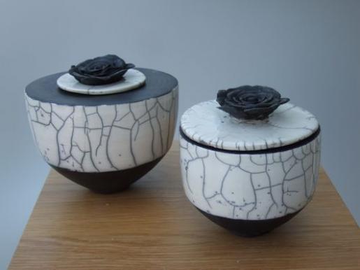 Arlette Carrein - Raku #ceramicart #ceramic #art #dishes
