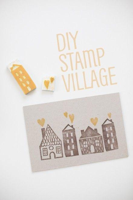 Tutorial   Stamp Carving a Village