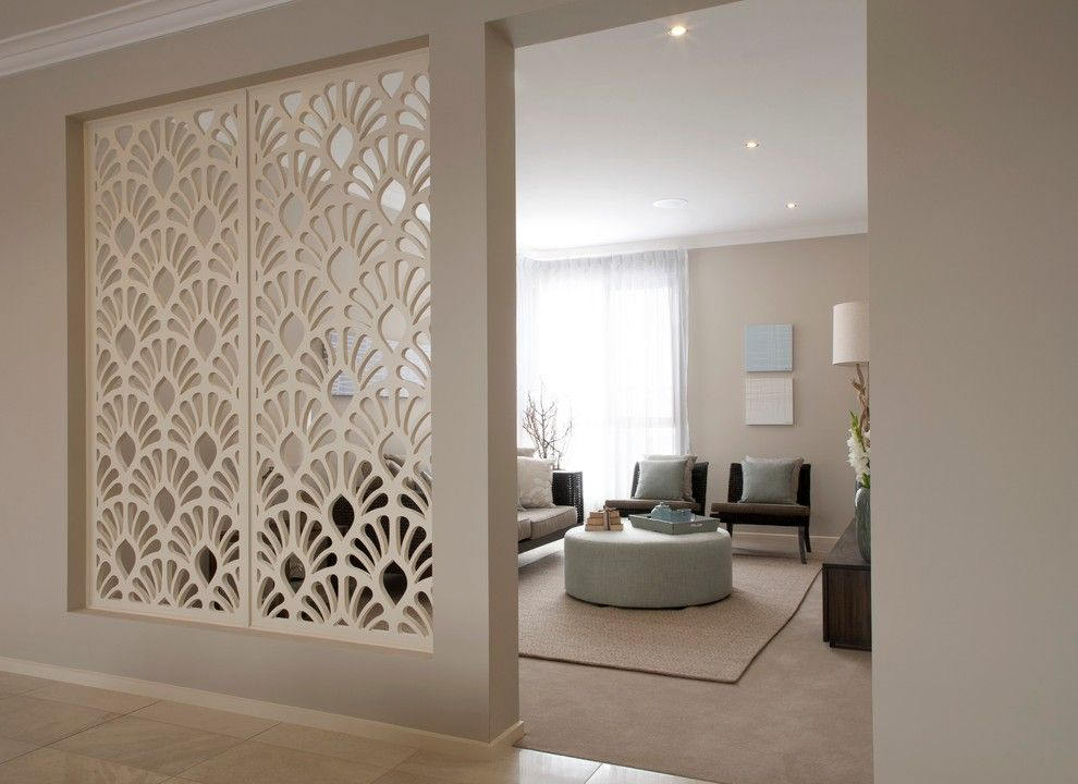 Bright Room Divider Screens In Living Contemporary With Beige Carpet Next To Dividing Wall Alongside
