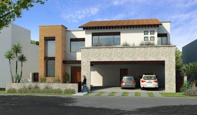 fachadas de casas modernas con cantera buscar con google