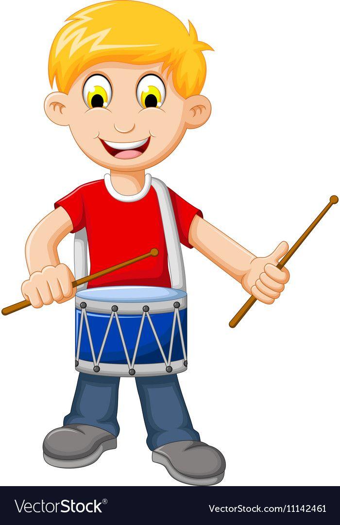 Картинка барабанщика с барабаном для детей