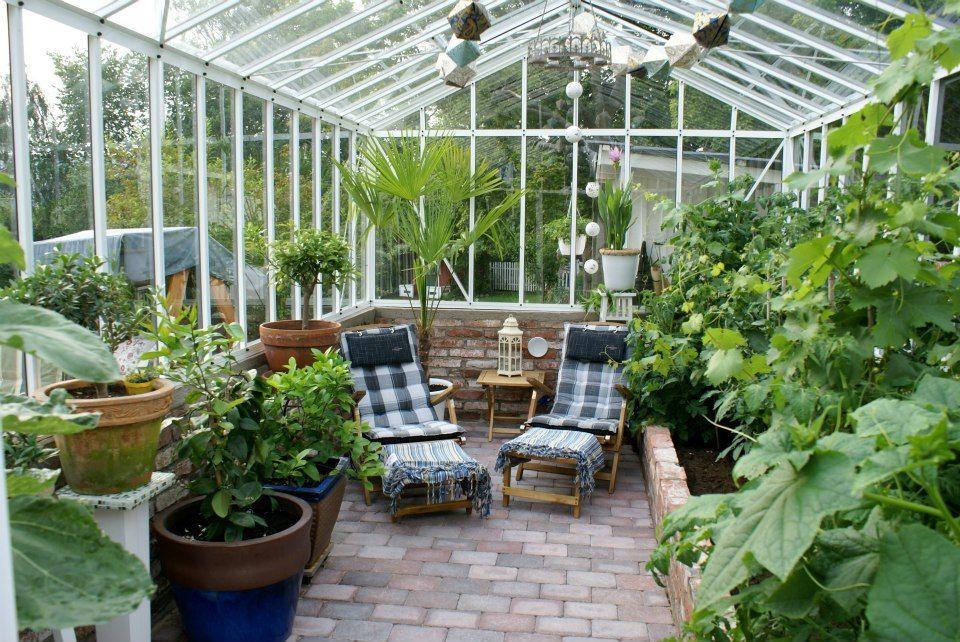 aménagement intérieur de serre | Design jardin, Jardin ...