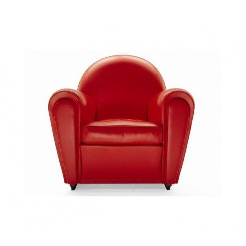 Poltrona Frau Vanity Fair armchair in red leather (here on sale for ...