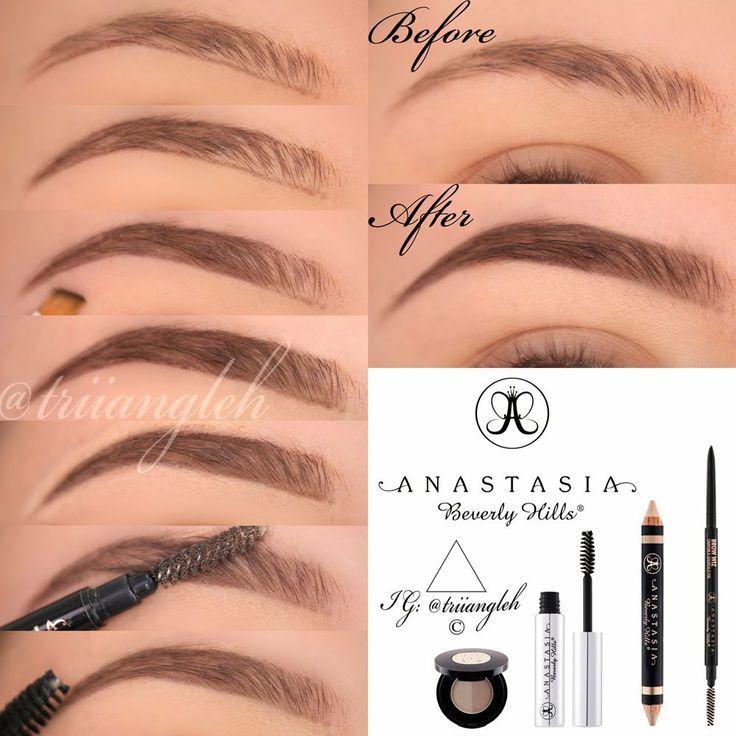 Natural Looking Eyebrow Tutorial Using Anastasia Beverly Hills Products Eyebrow Makeup Tutorial Eyebrow Makeup Eyebrow Kits