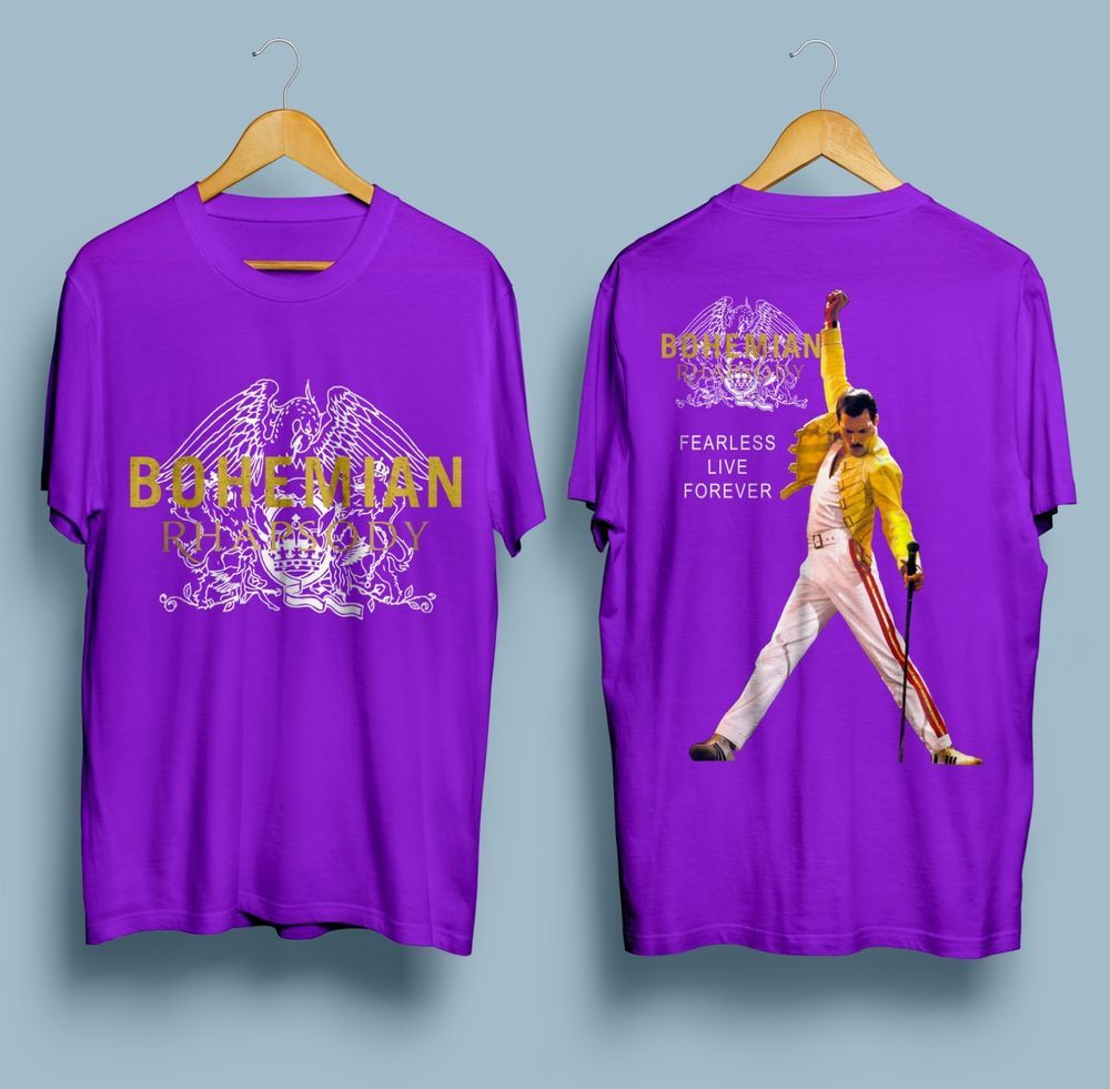 2f0cc4181 Bohemian Rhapsody Freddie Mercury Poster Movie Gildan Purple T Shirt S -  2XL #fashion #clothing #shoes #accessories #mensclothing #shirts (ebay link)