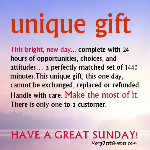 Beautiful Sunday Good Morning Quotes Sayings   This Bright New Day Is Unique