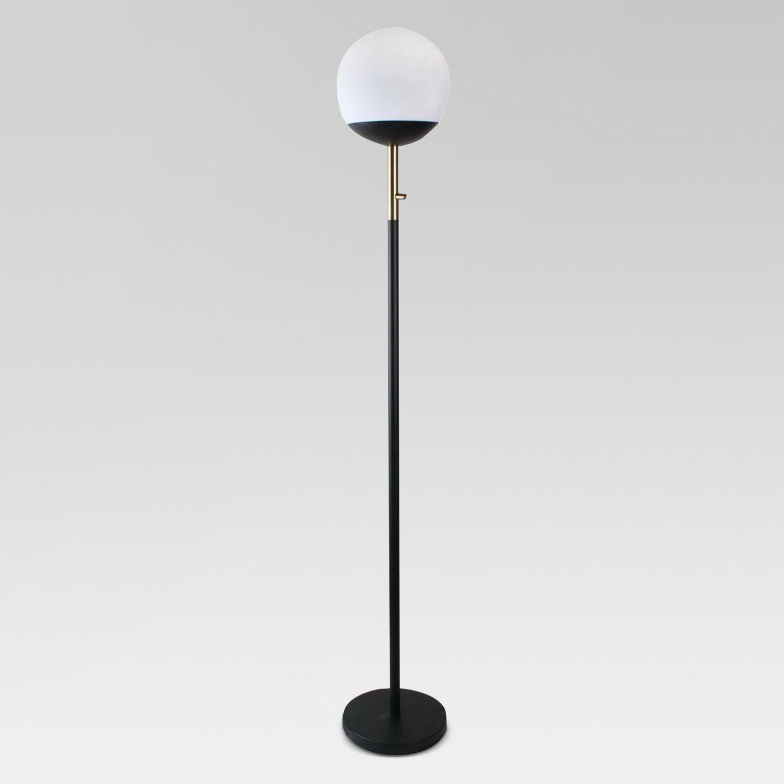 Globe Head Floor Led Lamp Black Includes Energy Efficient Light Bulb Project 62 Energy Efficient Light Bulbs Black Lamps Led Table Lamp