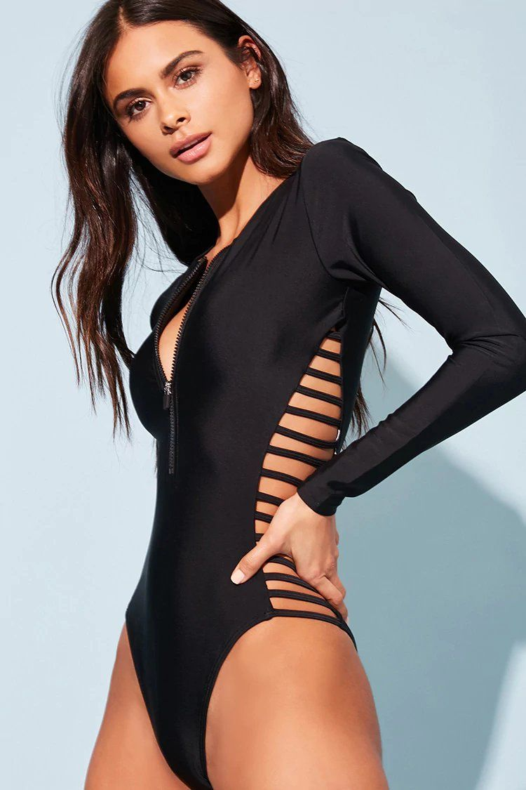e5501afd60156 Product Name:Ladder Cutout One-Piece Swimsuit, Category:Activewear,  Price:22.9