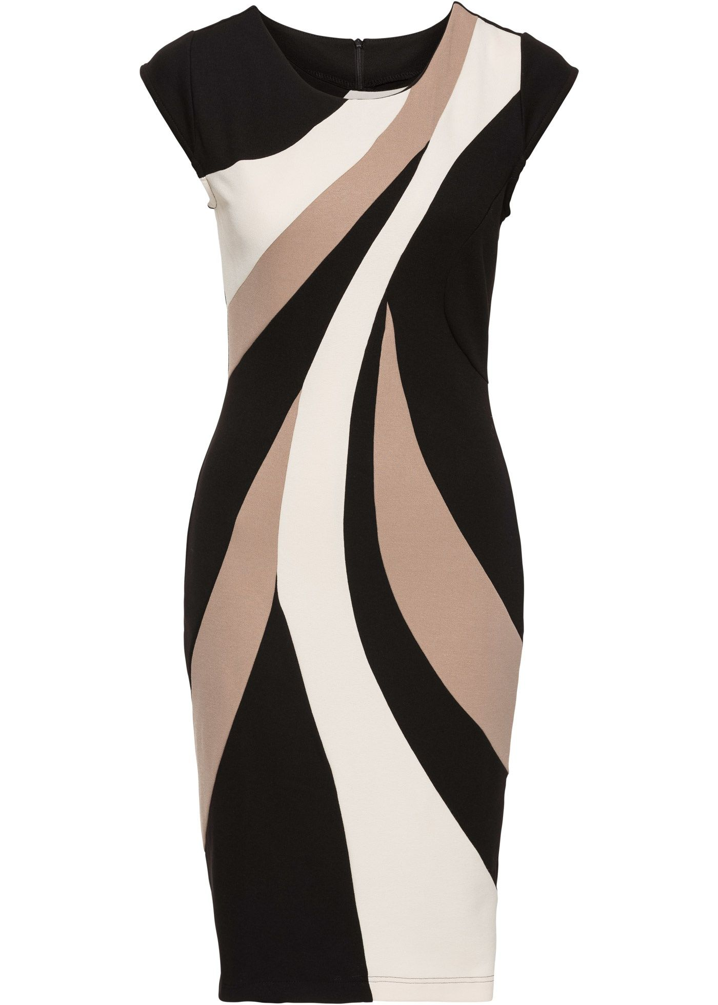 Kleid Multi Color beige - BODYFLIRT boutique jetzt im Online Shop