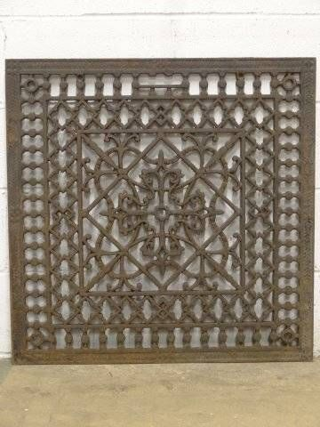 27x27 Ornate Cold Air Return Floor Grate Antiques Repurposed Antique Architectural Salvage Architectural Salvage
