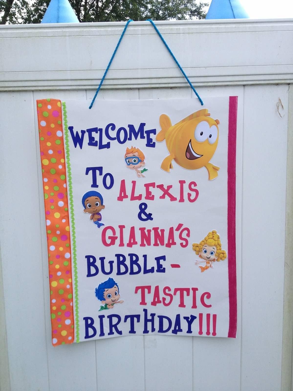 Bubble Guppies | Paisley\'s First Birthday Celebration | Pinterest