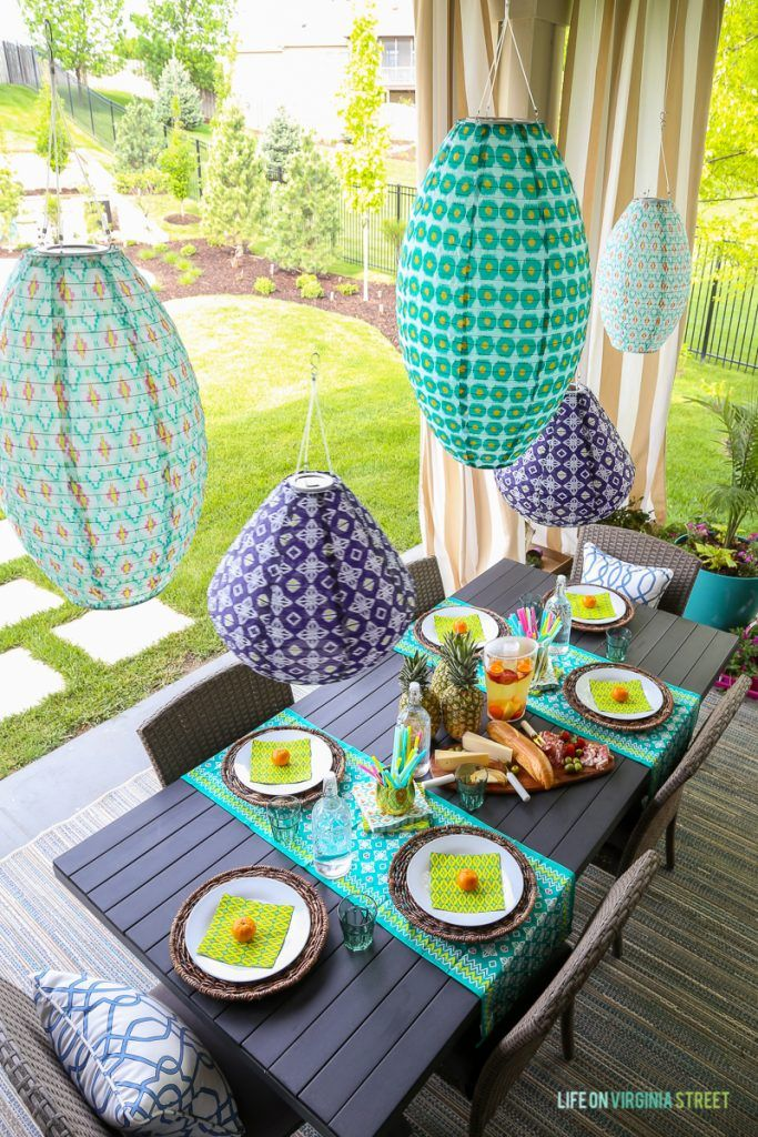 House · Tips For Simple Summer Entertaining. Love The Colorful Outdoor  Lanterns ...
