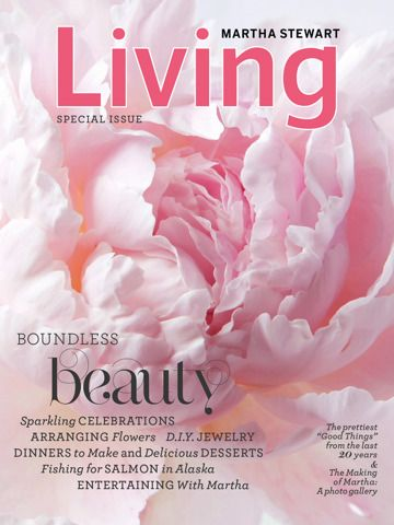 Living Magazine martha app flowers martha stewart