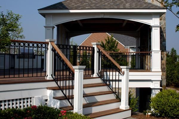 lattice, railing, newl posts | Building a deck, Deck ...