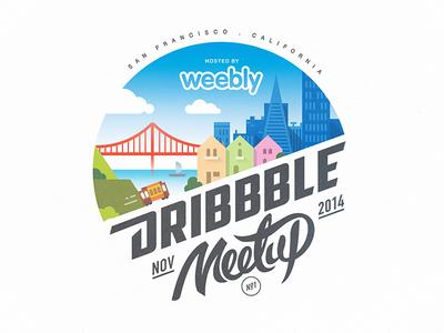 Sf Dribbble Meetup Weebly Logo Design Event Logo Logo Inspiration