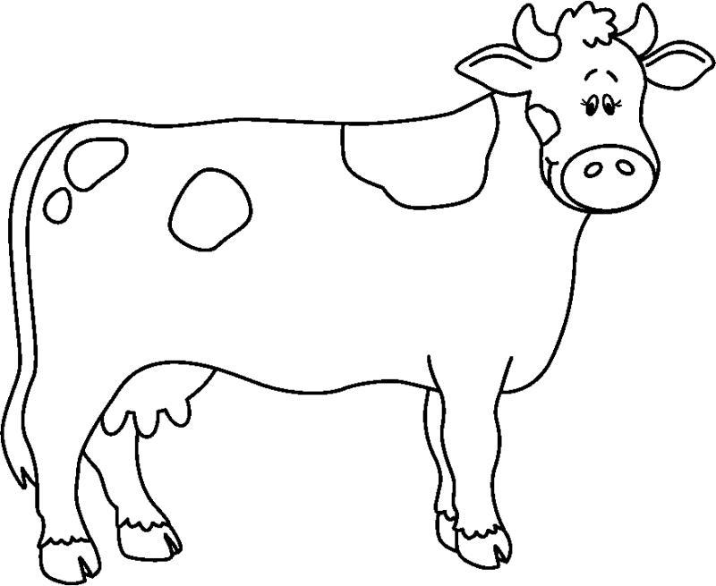 Cow Clipart 6 Dibujos De Animales Animalitos Para Colorear Dibujos Para Colorear