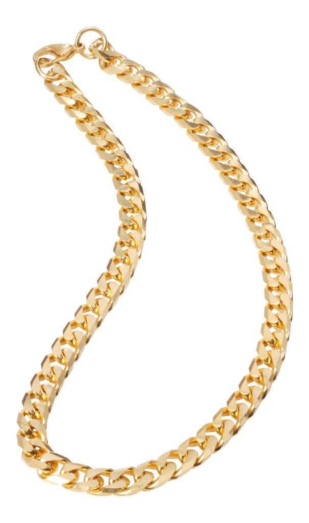 bb8d728a46a5d 18k Yellow Gold Cuban Link Necklace Women's Fashion Jewelry www ...