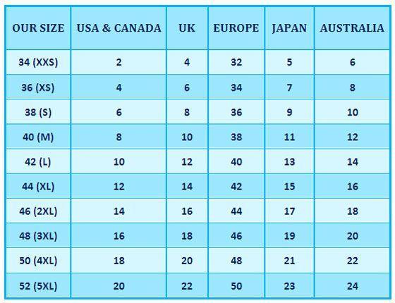 Zuzunaga - Adult men and women shoe size conversion chart : size ...