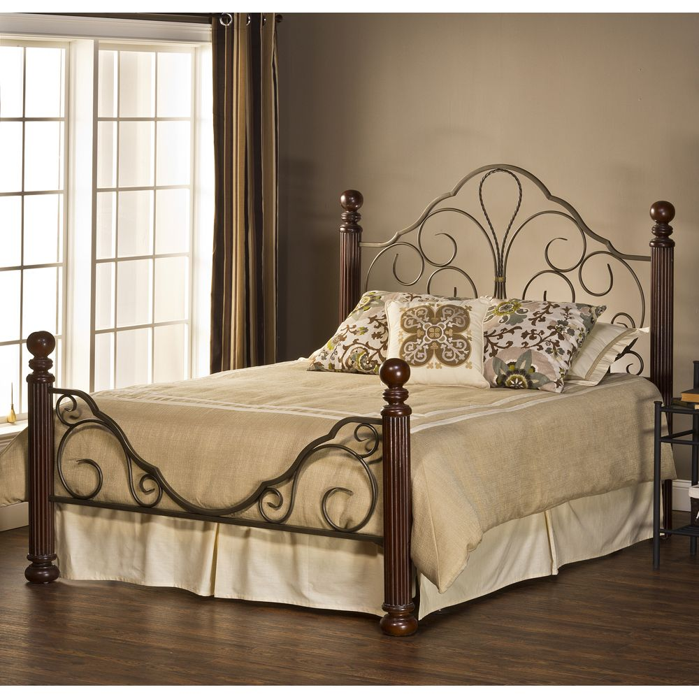 Ardisonne Bed by Hillsdale Furniture Iron Beds, Cherry