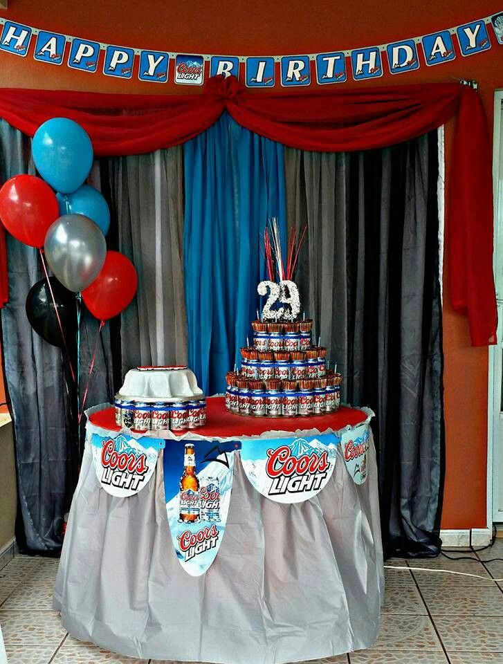 Coors Light Theme Party Adult Birthday Party Pinterest