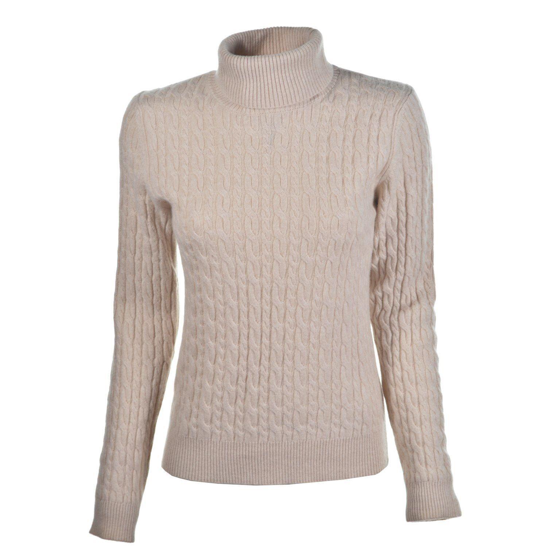 Luigi Baldo Women's Italian Cashmere Turtleneck Sweater by Luigi ...