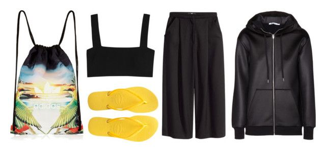 """ELNM ME"" by michelanna ❤ liked on Polyvore featuring adidas Originals, Havaianas, Valentino, T By Alexander Wang and H&M"