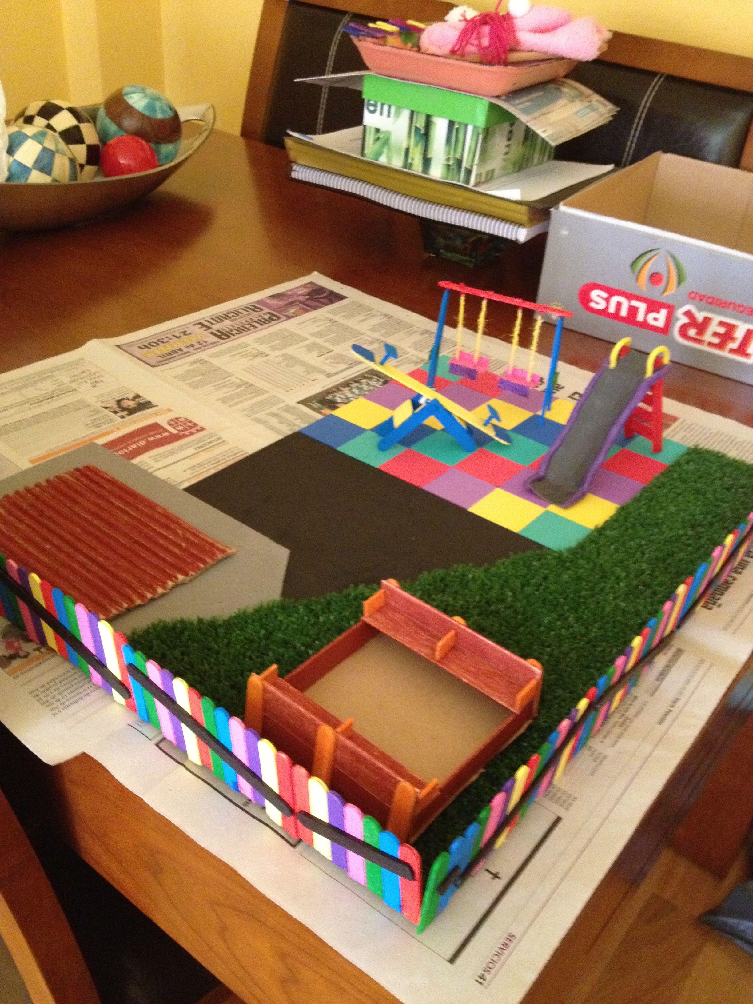 Maqueta de un parque infantil maquetas pinterest for Caja de colores jardin infantil