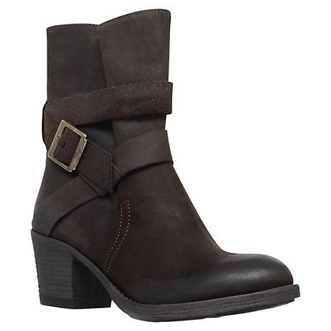 Carvela Silk Leather Wraparound Strap Calf Boots