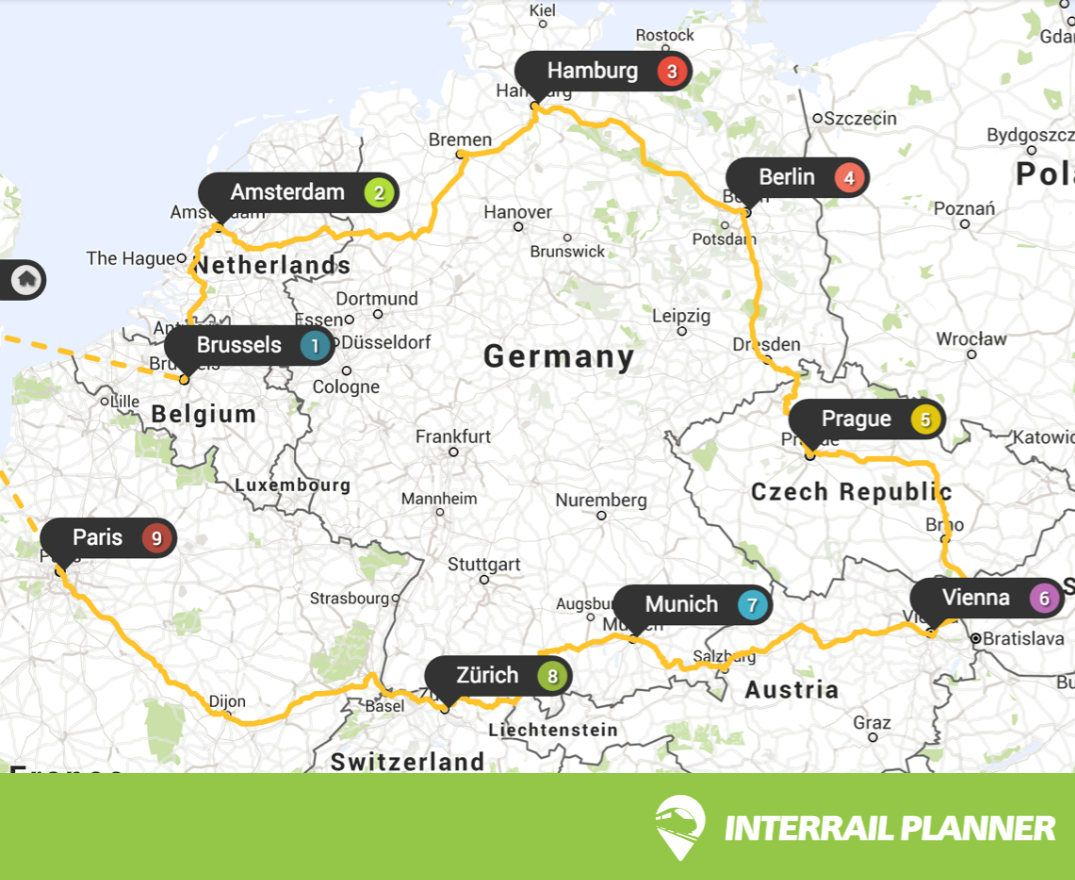 Interrail Planner Is The Free Trip Planning App Use Our - Map your route