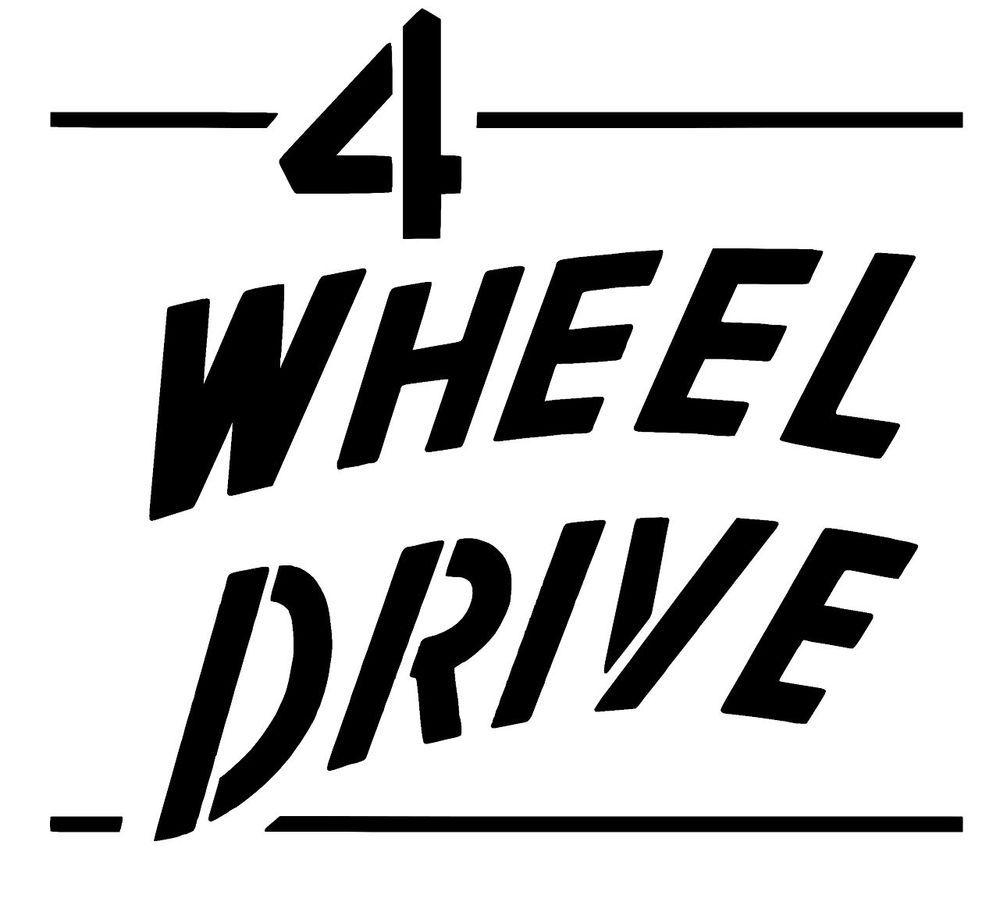 Jeep 4 Wheel Drive WILLYS Tailgate Decal - CJ3A CJ3B CJ2A CJ5 M38 ...