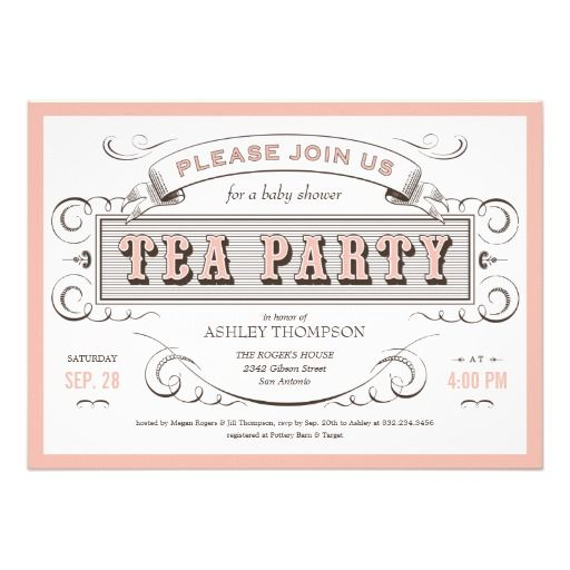 Vintage Tea Party Invitations  Tea Party Invitations Vintage Tea