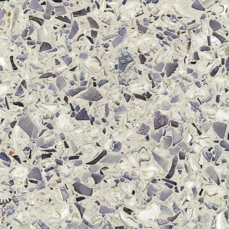 Vetrazzo coastal collection ingredients cranberry glass for Crushed glass countertops