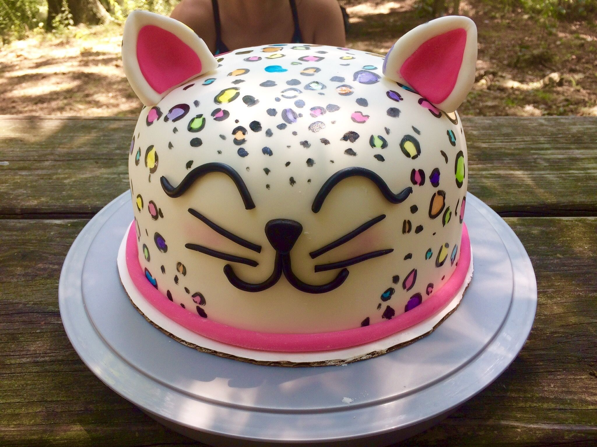 Pleasant 21 Best Image Of Leopard Birthday Cake With Images Cheetah Personalised Birthday Cards Petedlily Jamesorg