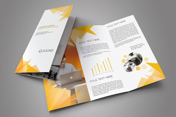 Corporate Trifold Brochure By OrcShape On Creativemarket Brochure - Brochure templates maker