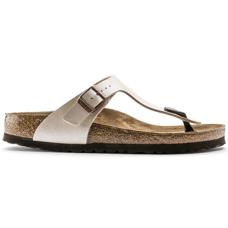 Gizeh Birko Flor Graceful Pearl White Birkenstock Gizeh Birkenstock Simple Sandals