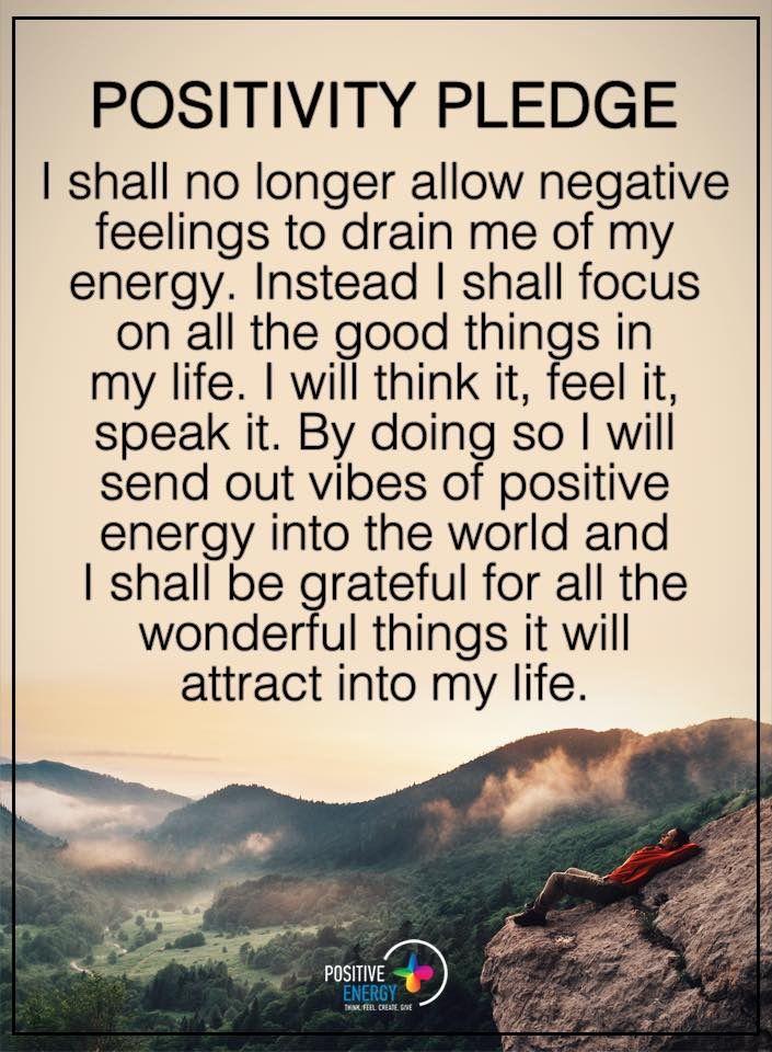 Pin by Tracy Rito on Meditation | Positivity pledge ...